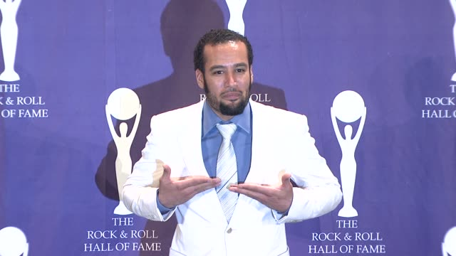 ben harper at the 23rd annual rock and roll hall of fame induction ceremony press room at the waldorf astoria in new york new york on march 10 2008 - hall of fame stock videos and b-roll footage