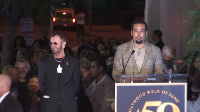 ben harper honors ringo starr at the ringo starr honored with a star on the hollywood walk of fame at hollywood ca - ringo starr stock videos & royalty-free footage