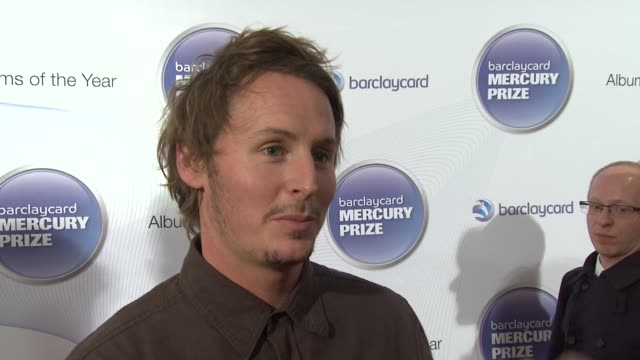 ben howard on being at the mercury prize, on the award, on the effects of the nomination, on the possibility of winning at barclaycard mercury music... - mercury music prize stock-videos und b-roll-filmmaterial