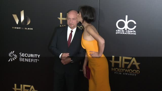 ben kingsley and daniela lavender at 20th annual hollywood film awards at the beverly hilton hotel on november 06 2016 in beverly hills california - ben kingsley stock videos & royalty-free footage