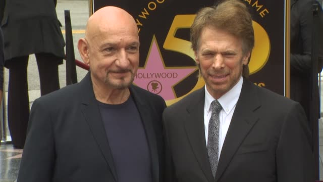 ben kingsley and jerry bruckheimer at the ben kingsley honored with a star on the hollywood walk of fame at hollywood ca - ben kingsley stock videos & royalty-free footage