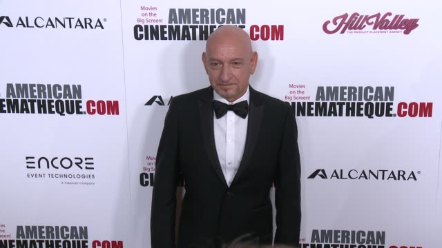 ben kingsley at 30th annual american cinematheque awards gala in los angeles ca - ben kingsley stock videos & royalty-free footage