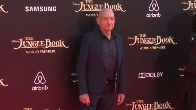 ben kingsley at disney's the jungle book los angeles premiere at the el capitan theatre on april 04 2016 in hollywood california - ben kingsley stock videos & royalty-free footage