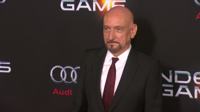 ben kingsley at ender's game los angeles premiere in hollywood ca on - ben kingsley stock videos & royalty-free footage