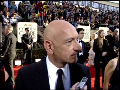 Ben Kingsley at the 2002 Golden Globe Awards at the Beverly Hilton in Beverly Hills California on January 20 2002
