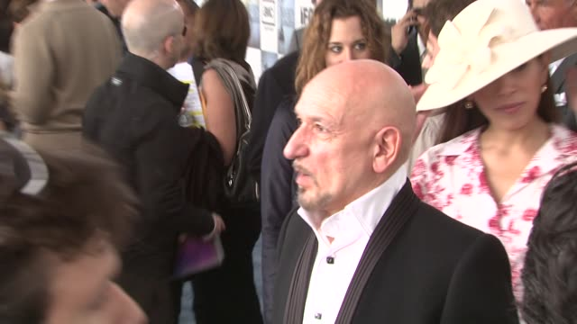 ben kingsley at the film independent's 2009 spirit awards arrivals part 2 at los angeles ca - ben kingsley stock videos and b-roll footage