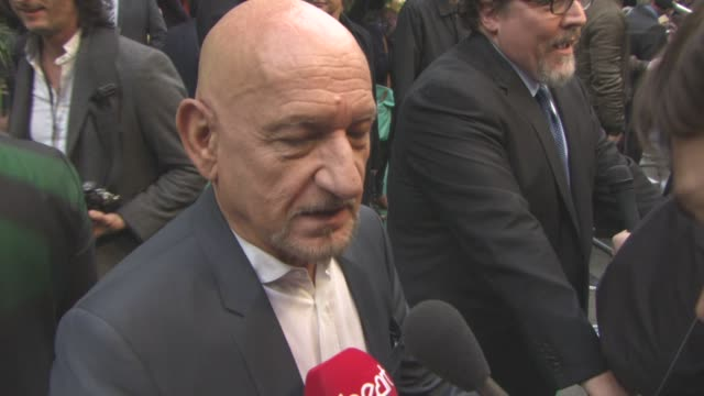 ben kingsley at the jungle book european premiere at bfi imax on april 13 2016 in london england - ben kingsley stock videos and b-roll footage