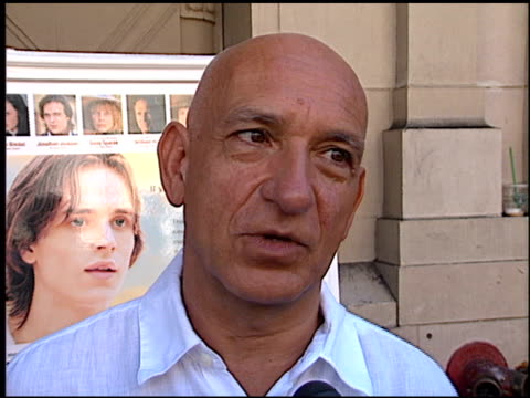 ben kingsley at the 'tuck everlasting' premiere at the el capitan theatre in hollywood california on october 5 2002 - ben kingsley stock videos & royalty-free footage
