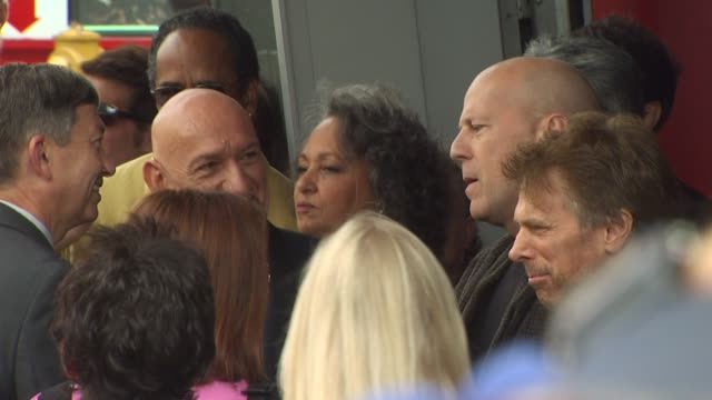 ben kingsley bruce willis and jerry bruckheimer at the ben kingsley honored with a star on the hollywood walk of fame at hollywood ca - ben kingsley stock videos & royalty-free footage