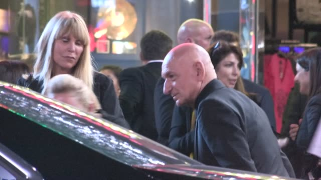 Ben Kingsley Daniela Lavender depart the Iron Man 3 After Party in Hollywood 04/24/13