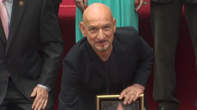 ben kingsley honored with a star on the hollywood walk of fame hollywood ca united states 5/27/10 - ben kingsley stock videos & royalty-free footage
