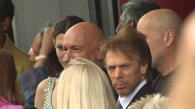 ben kingsley jerry bruckheimer and bruce willis at the ben kingsley honored with a star on the hollywood walk of fame at hollywood ca - ben kingsley stock videos & royalty-free footage