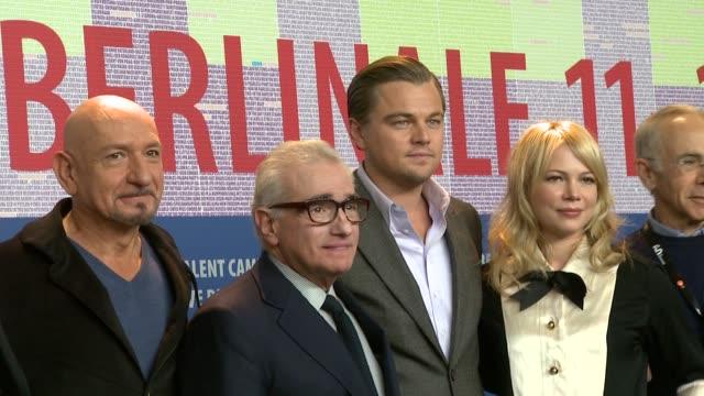 Ben Kingsley Leonardo DiCaprio Michelle Williams Martin Scorsese at the Shutter Island Press Conference 60th Berlin Film Festival at Berlin