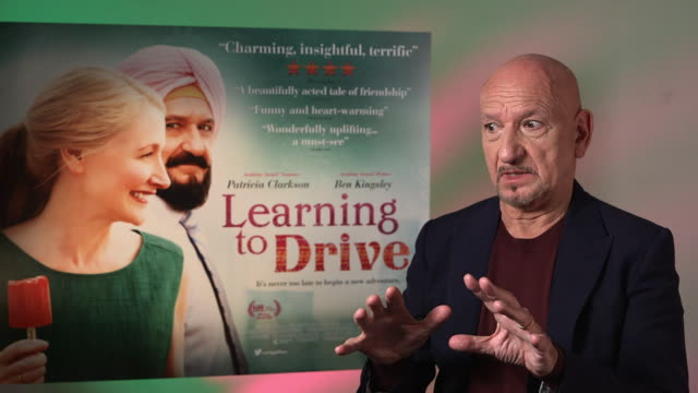 interview ben kingsley on fate building fate into a film his character opening up fate to people at 'learning to drive' interviews on june 03 2016 in... - ben kingsley stock videos and b-roll footage
