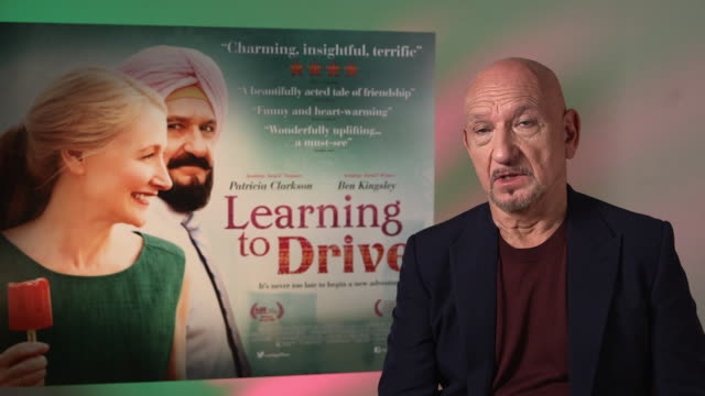 interview ben kingsley on female behind the camera isabel coixet at 'learning to drive' interviews on june 03 2016 in london england - ben kingsley stock videos and b-roll footage