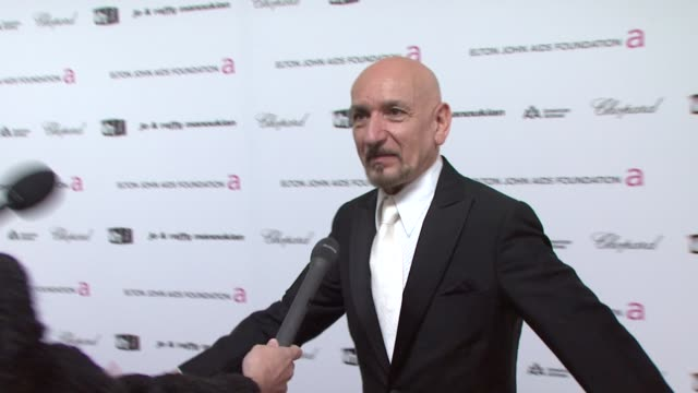 ben kingsley on the highlight of the oscar's. at the 17th annual elton john aids foundation academy award viewing party par at los angeles ca. - ben elton stock videos & royalty-free footage