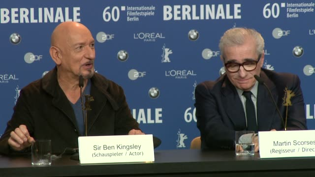 ben kingsley on the screenplay the compassion of the films construction and being in the safe hands of scorsese at the shutter island press... - ben kingsley stock videos and b-roll footage