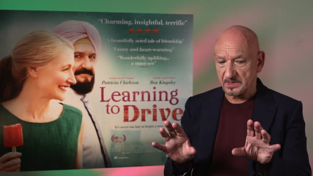 interview ben kingsley on the task of filming in a car the script isabel coixet at 'learning to drive' interviews on june 03 2016 in london england - ben kingsley stock videos and b-roll footage