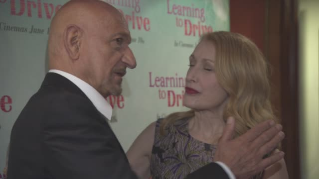 Ben Kingsley Patricia Clarkson at 'Learning to Drive' Gala Screening at The Curzon Mayfair on June 02 2016 in London England