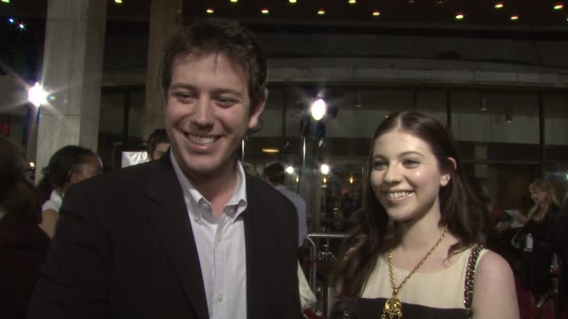 ben lyons and michelle trachtenberg on being film festival jurors, the responsibility they have, tonight's showing of 'doubt' at the doubt premiere... - michelle trachtenberg stock videos & royalty-free footage