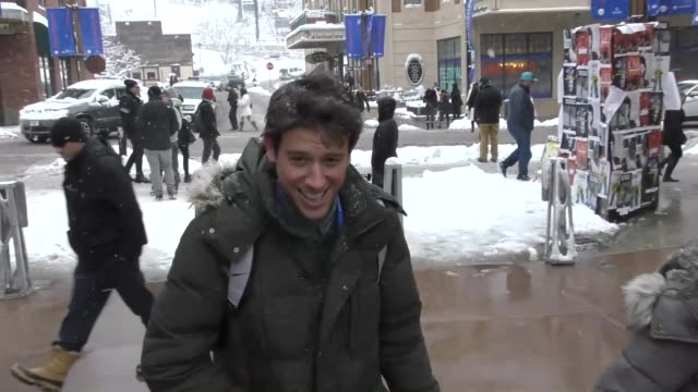 Ben Lyons on Main Street at the Sundance Film Festival in Park City Utah at Celebrity Sightings in Park City on January 20 2018 in Park City Utah