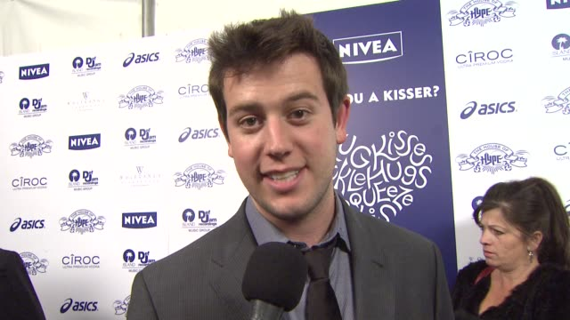 Ben Lyons talking about the hugs and kisses promotion when its appropriate to hug and kiss and who in Hollywood he would like to kiss at the NIVEA at...