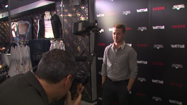 ben mckenzie at the guess vanity fair tshirt launch event to benefit invisible children at beverly hills ca - vanity fair stock videos and b-roll footage