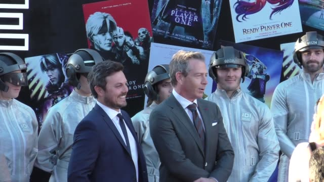 Ben Mendelsohn Dan Farah arrive at the premiere of Ready Player One at Dolby Theatre in Hollywood in Celebrity Sightings in Los Angeles