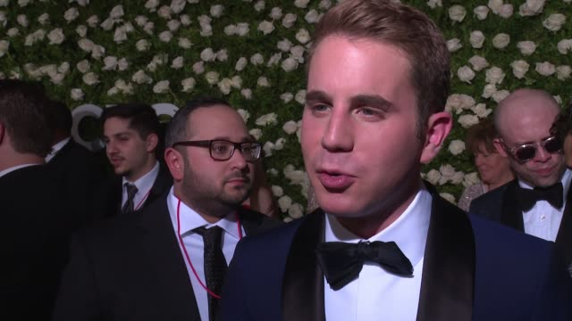 interview ben platt shares thoughts on the art of theater at 2017 tony awards red carpet at radio city music hall on june 11 2017 in new york city - annual tony awards stock videos and b-roll footage