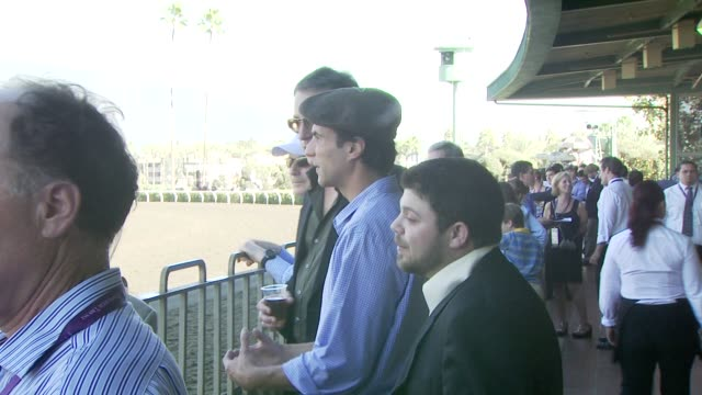 ben silverman john corbett and jerry ferrara at the breeders' cup world thoroughbred championships day two at los angeles ca - john corbett stock videos and b-roll footage