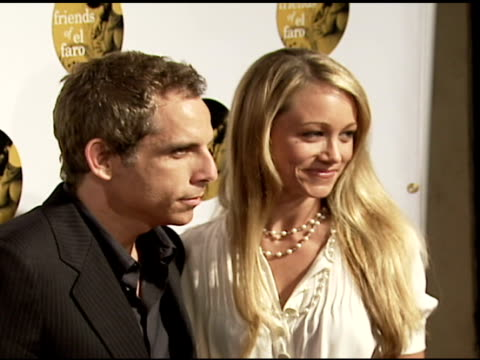 ben stiller and christine taylor at the 4th annual night with friends of el faro at the music box in hollywood, california on june 18, 2006. - christine taylor stock videos & royalty-free footage