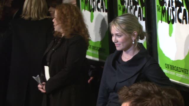 ben stiller and christine taylor at the 'shrek the musical' broadway opening night at new york ny. - christine taylor stock videos & royalty-free footage