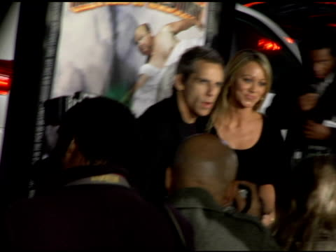 ben stiller and christine taylor at the 'tenacious d in the pick of destiny' premiere arrivals at grauman's chinese theatre in hollywood, california... - tenacious d stock videos & royalty-free footage