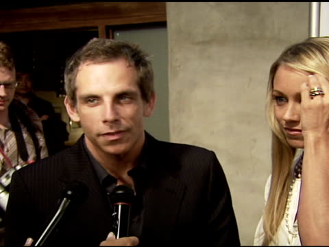 ben stiller and christine taylor on why they are at the event and supporting the cause at the 4th annual night with friends of el faro at the music... - christine taylor stock videos & royalty-free footage