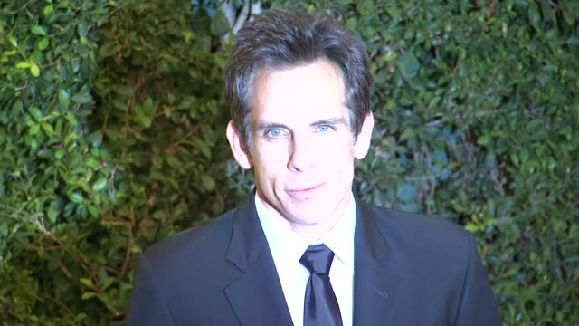 ben stiller at academy of motion picture arts and sciences' governors awards in hollywood ca on - 映画芸術科学協会点の映像素材/bロール