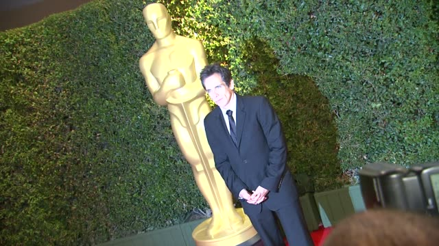 ben stiller at academy of motion picture arts and sciences' governors awards in hollywood ca on - academy of motion picture arts and sciences stock videos & royalty-free footage