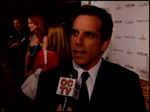 stockvideo's en b-roll-footage met ben stiller at the project als benefit gala at the century plaza hotel in century city, california on may 6, 2005. - century plaza