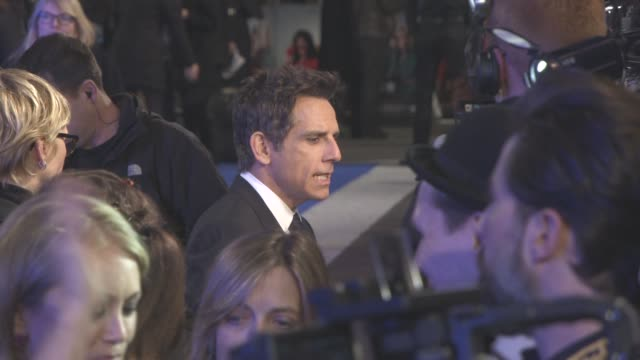 ben stiller at 'zoolander 2' - uk special screening at empire leicester square on february 4, 2016 in london, england. - leicester square stock videos & royalty-free footage