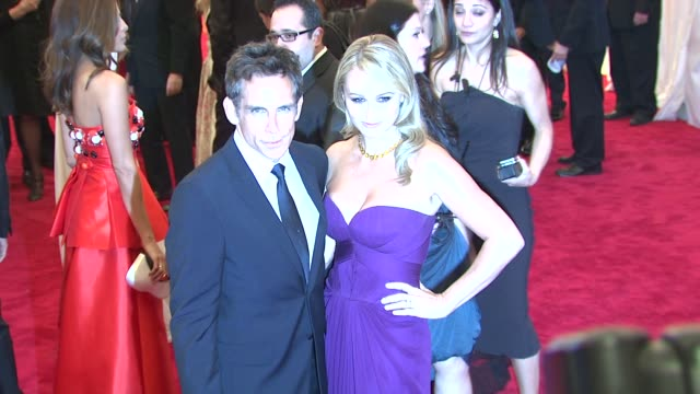 """ben stiller, christine taylor at """"schiaparelli and prada: impossible conversations"""" costume institute gala at metropolitan museum of art on may 07,... - christine taylor stock videos & royalty-free footage"""