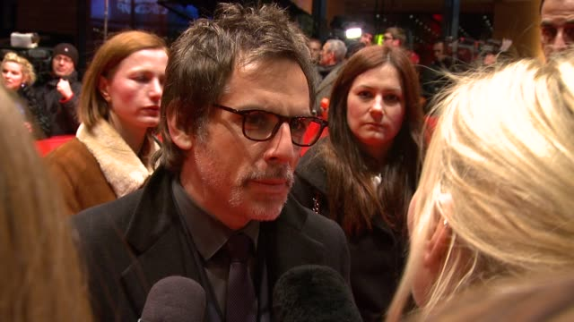 ben stiller on coming to berlin about working with noah baumbach and how he compares to his character at the greenberg premiere 60th berlin film... - ziegenbart stock-videos und b-roll-filmmaterial