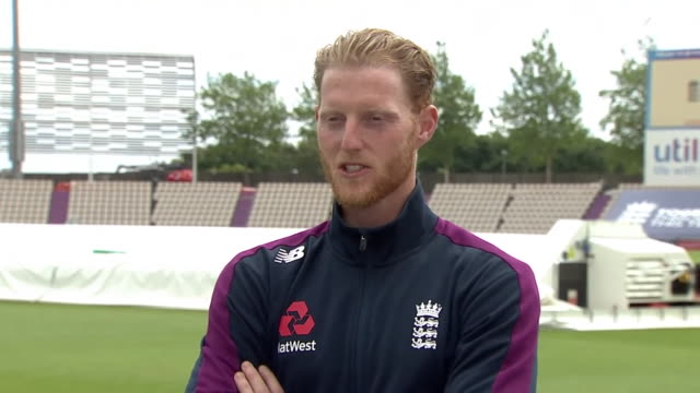 ben stokes talking about how he will approach his new role as england test captain - part of a series stock videos & royalty-free footage