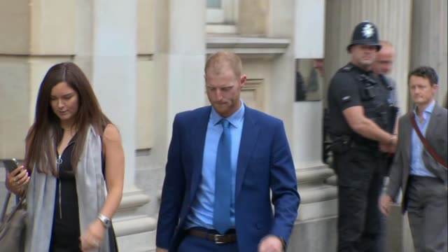 jury considers verdict ENGLAND Bristol Bristol Crown Court EXT Ben Stokes along leaving court with Claire Ratcliffe
