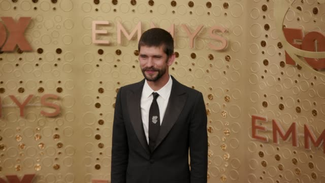ben whishaw at the 71st emmy awards - arrivals at microsoft theater on september 22, 2019 in los angeles, california. - ben whishaw stock videos & royalty-free footage