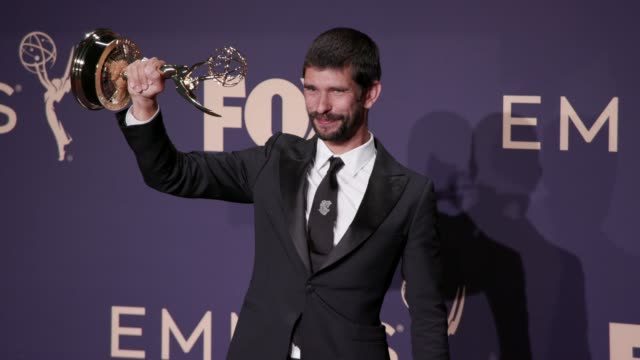 ben whishaw at the 71st emmy awards - press room at microsoft theater on september 22, 2019 in los angeles, california. - ben whishaw stock videos & royalty-free footage