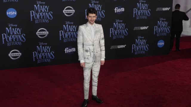 """ben whishaw at the disney's """"mary poppins returns"""" world premiere at dolby theatre on november 29, 2018 in hollywood, california. - ben whishaw stock videos & royalty-free footage"""