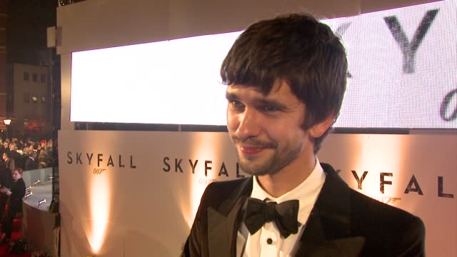 ben whishaw on bond being an institution how it surprised him how he approached his role why it means so much to people at 'skyfall' royal world... - james bond stock videos & royalty-free footage