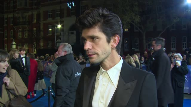 ben whishaw on his love of the original movie, emily blunt's style and pride in the results at royal albert hall on december 12, 2018 in london,... - ben whishaw stock videos & royalty-free footage