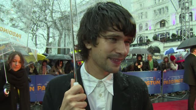ben whishaw on paddington and voicing the character at the world premiere of paddington on 23rd november 2014 in london, england. - ben whishaw stock videos & royalty-free footage