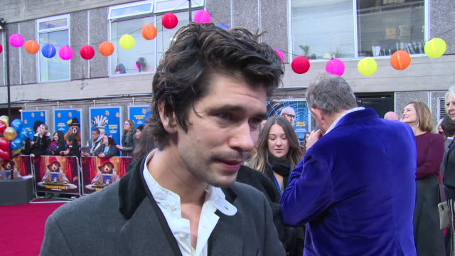 Ben Whishaw on the feel good character and getting to see the movie at BFI Southbank on November 05 2017 in London England