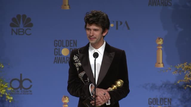ben whishaw on winning a golden globe at the 76th annual golden globe awards - press room at the beverly hilton hotel on january 06, 2019 in beverly... - ben whishaw stock videos & royalty-free footage
